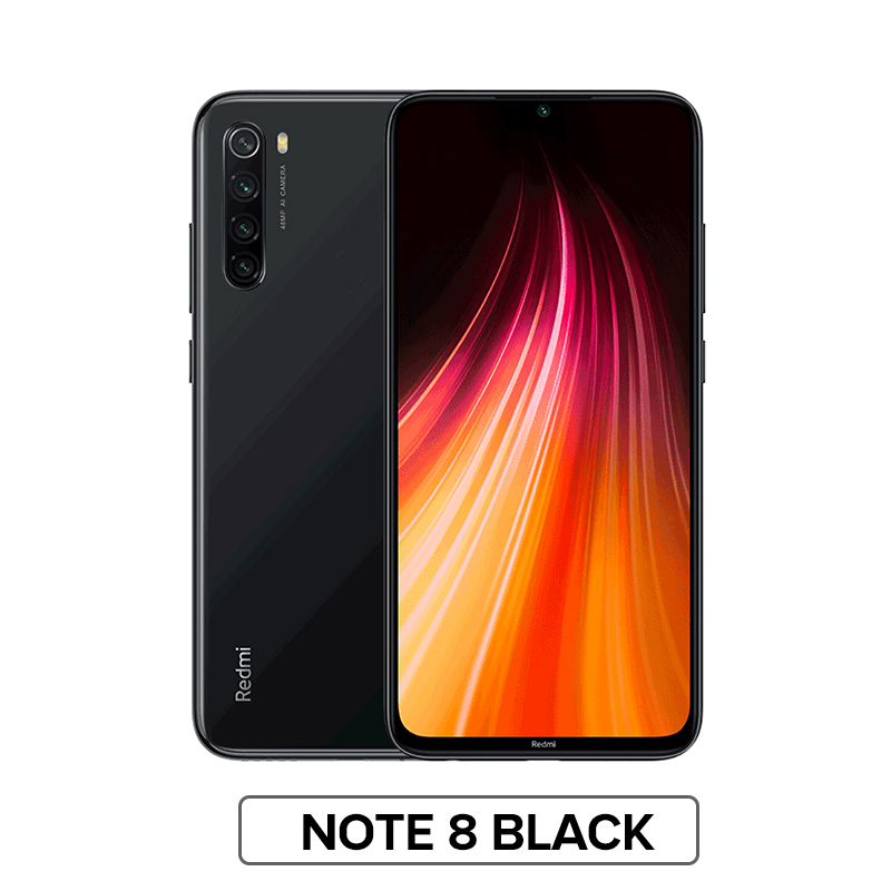 "Глобальная версия Xiaomi Redmi Note 8 4 Гб 64 Гб Смартфон 48мп камера Snapdragon 665 мобильный телефон 4000 мАч 18 Вт Быстрая зарядка 6,"" FHD - Цвет: Note 8 Black"