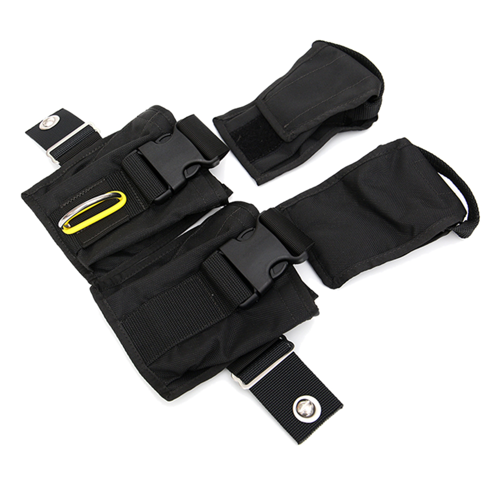 Scuba Diving Wight Bag Cargo Pocket Pouch Lead Holder For Backplate Mount