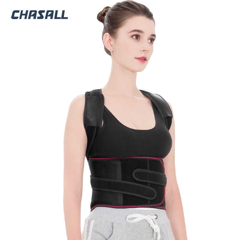 Chasall houding corrector schouder rugpijn reliever wervelkolom stijltang orthopedische brace riem rechte corset voor terug ondersteuning