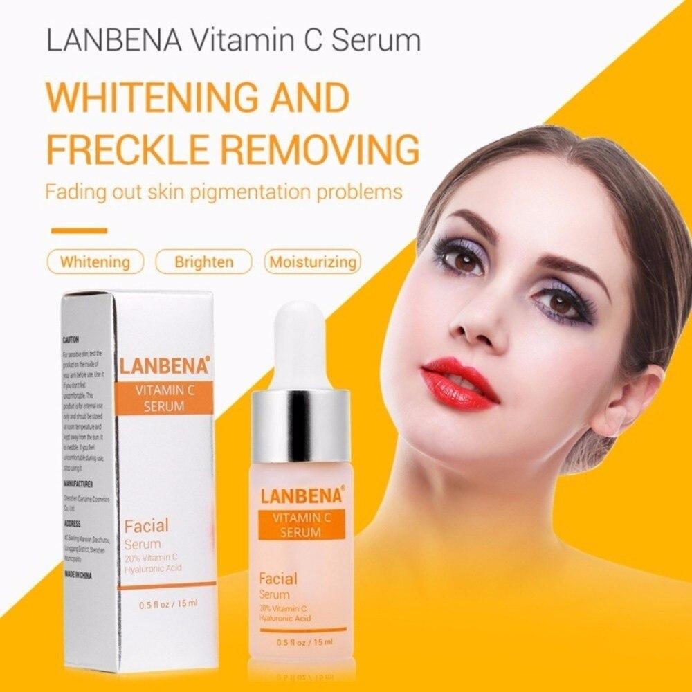 LANBENA Vitamin C Essence Skin Care Whitening Serum Hyaluronic Acid Face Cream Snail Remover Freckle Spots Anti-aging TSLM1