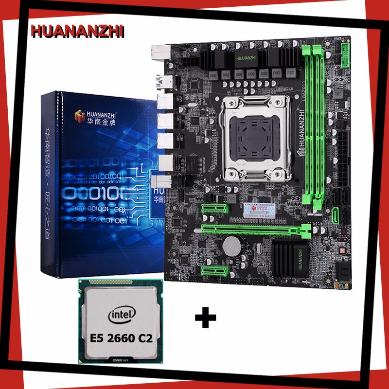 HUANANZHI X79 motherboard LGA2011 processor <font><b>Intel</b></font> <font><b>Xeon</b></font> E5 <font><b>2660</b></font> C2 SROKK SATA3.0 USB3.0 RAM 2 channel all tested before shipping image