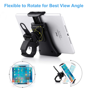 Image 5 - Bike Bicycle Phone Holder Handlebar Tablet Stand Mount for iPad iPhone Samsung Tablet Phone Holder Cradle for Gym Tread Mill