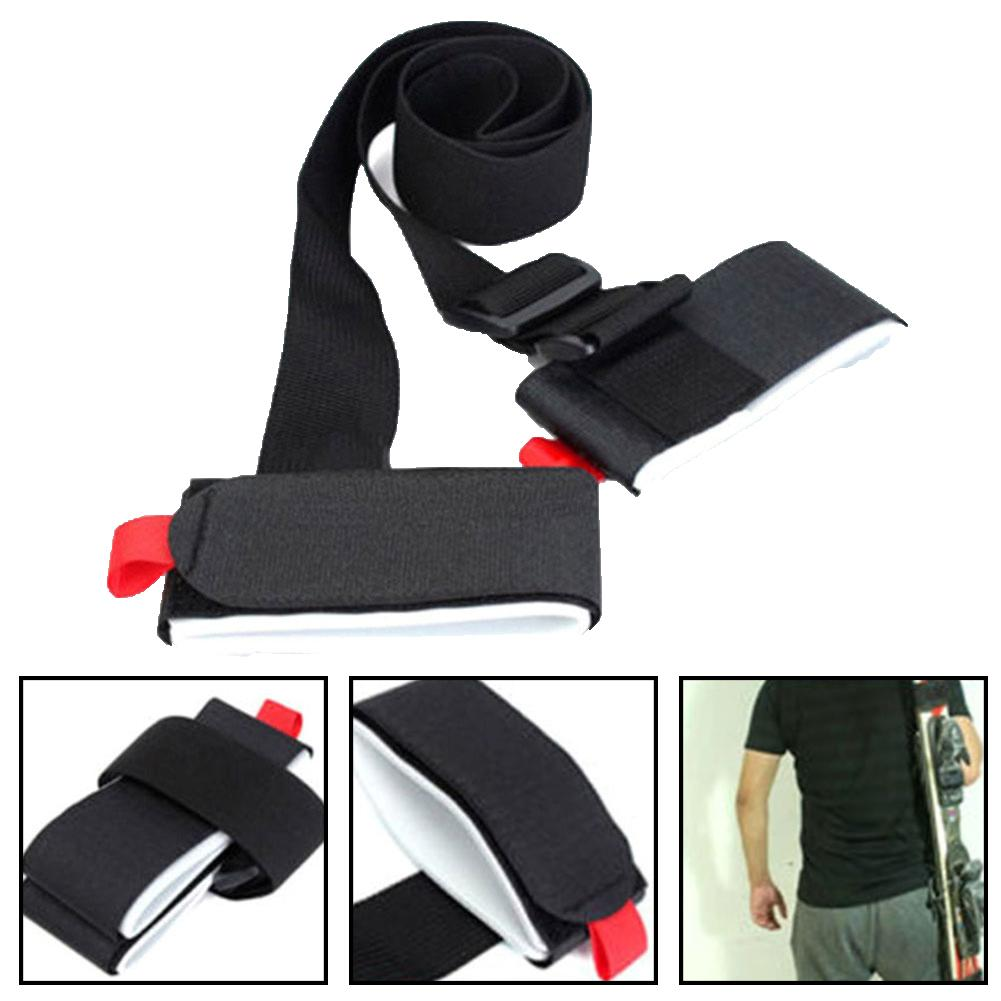 Ski Board Strap Adjustable Winter Skiing Pole Fixing Shoulder Hand Carrier Lash Handled Dual Board Accessory