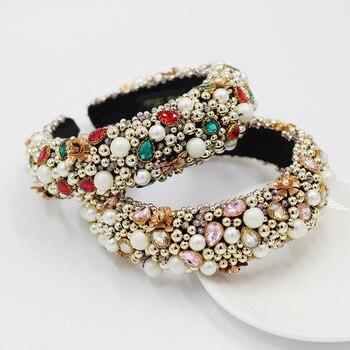 Heavy Crystal Color Shiny Diamond Headband  1