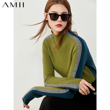 Amii Minimalism Winter Sweaters For Women Fashion Cashmere&wool Women's Turtleneck Sweater Causal Female Pullover Tops 12040855