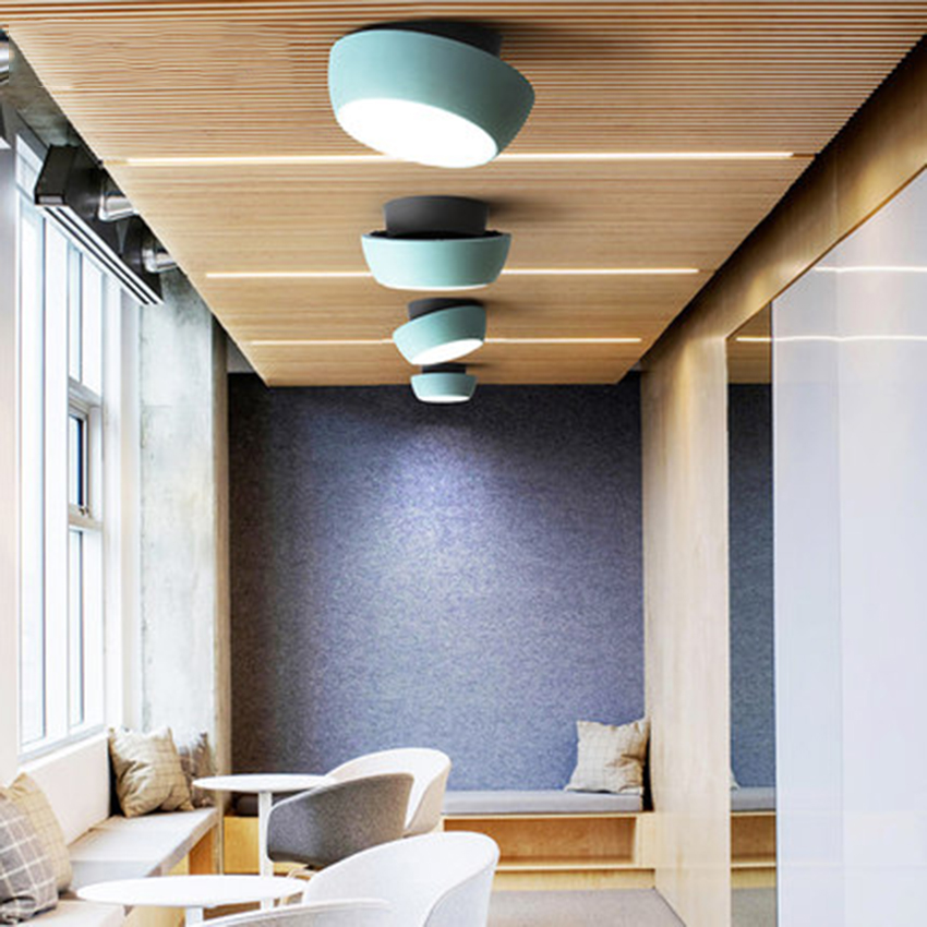 Modern Led Acrylic Ceiling Light Color Lamp Lighting Nordic Cafe Loft Living Room Bedroom Study Decor Fixture