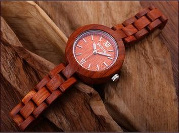New Hand-made Sandalwood Watches forFemale Leisure Fashion Waterproof Multifunctional Quartz Watches Gift for Womenwomen watches