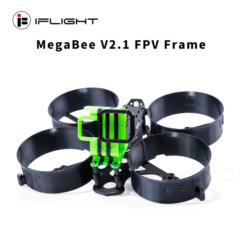 iFlight MegaBee V2.1 FPV CineWhoop Frame 20x20 3 inch propeller 153mm Wheelbase with GoPro 4K 7 TPU Mount for RC Racing Drone