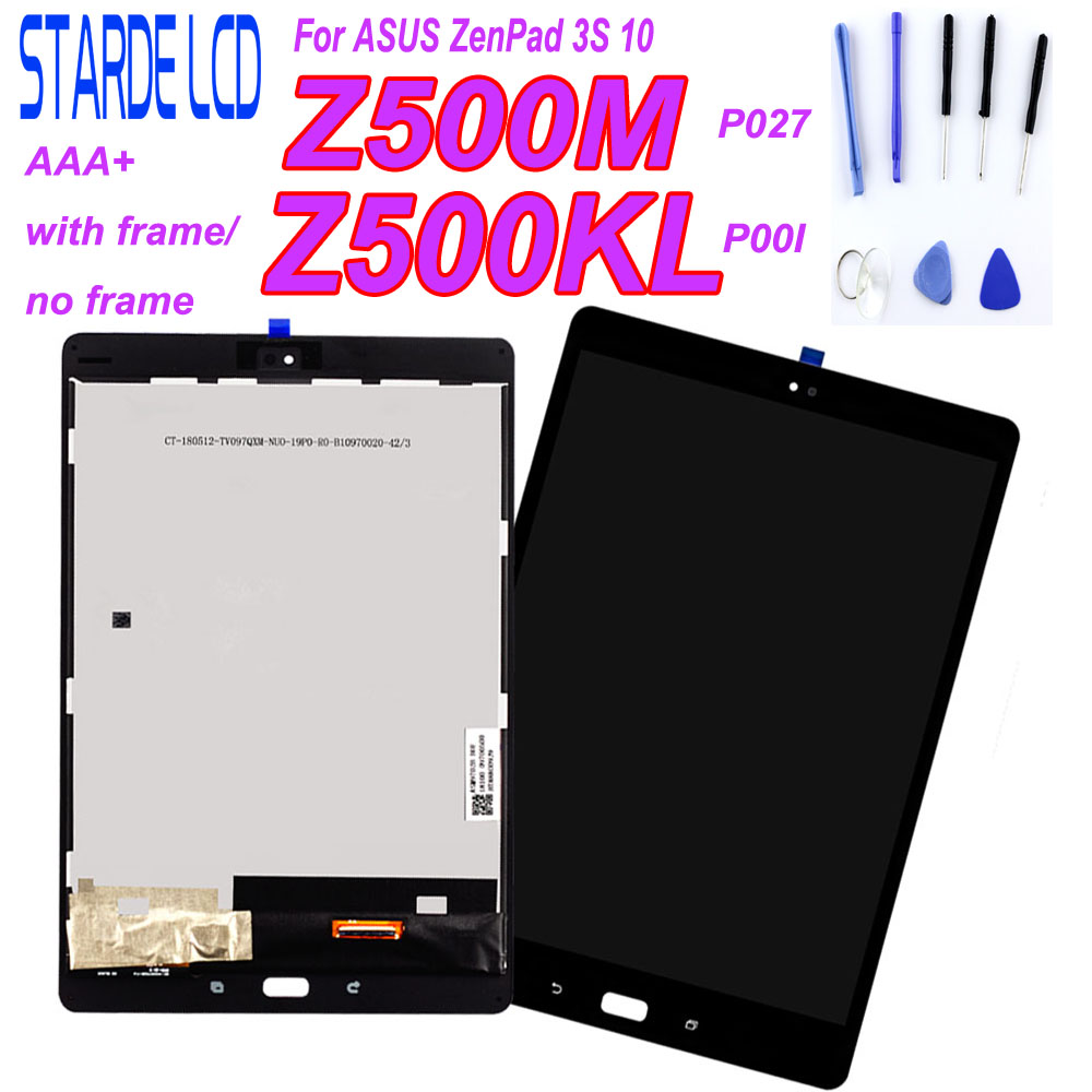 High Quality For ASUS ZenPad 3S 10 P027 Z500M Z500KL P001 Z500 LCD Display Monitor Touch Screen Digitizer Assembly Repair Parts