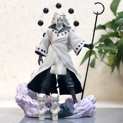 Anime Naruto 3 Heads Uchiha Madara Action Figure Rikudo Sennin PVC Model Toy Statue Birthday Xmas Gift B19 7