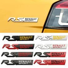 3d metal emblema do carro adesivo para renault rs esporte megane granta espanador fluence katur logan thalia koleos clio acessórios