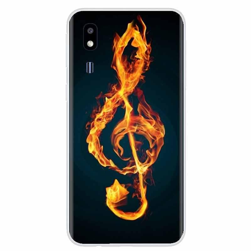 Pour ZTE Lame A520 A512 A452 A602 A5 2019 V6 V7 V8 V9 V10 Lite Viat Notes de Musique Violon Classique Musique Art couvercle de boitier en silicone
