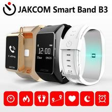 JAKCOM B3 Smart Watch Best gift with band smart watch android women smartch oxygenmeter microwear 4 strap m4 kids nfc no 1 s9 nfc smart watch with leather strap brown