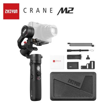 ZHIYUN Official Crane M2 3-Axis Gimbals Handheld Stabilizer for Mirrorless Compact Action Cameras Phone Smartphones iPhone 11