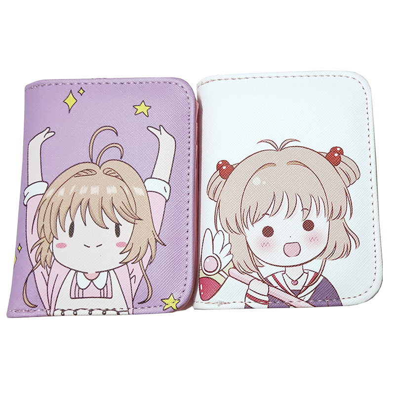 Cardcaptor Sakura Women Card Captor Sakura Short Wallet Zipper Female Coin Purse Change Card Holder Purse Anime Cartera Mujer