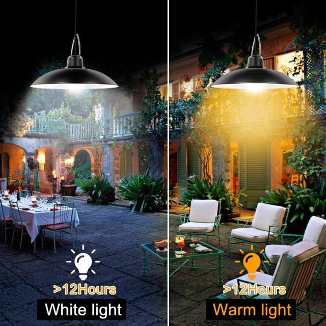 Güneş kolye ışıkları açık asılı kulübe güneş lambası ahır 16 led ışık mutfak bahçe Yard Patio balkon ev otomatik açık/kapalı