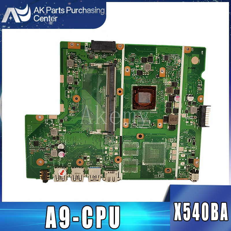 Akemy X540BA Motherboard For ASUS X540BA X540BP X540B Laotop Mainboard With A9-CPU