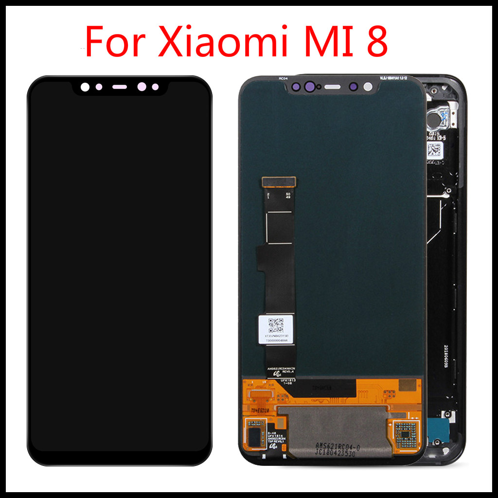 Top Quality  For Xiaomi MI 8 Display LCD Touch Screen Digitizer Assembly Replacement Parts For Xiaomi Mi8 LCD Display