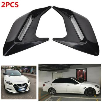 OLOMM 2pcs Shark  Gill Design Car Auto Side Vent Air Flow Fender Intake Sticker Simulation Vents Decorative
