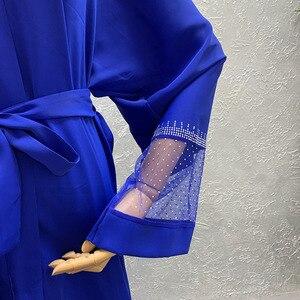Image 5 - Afrika giyim 2020 yeni pelerin ceket Riche Bazin afrika elbise kadınlar seksi Sequins perspektif hırka pelerin ceket