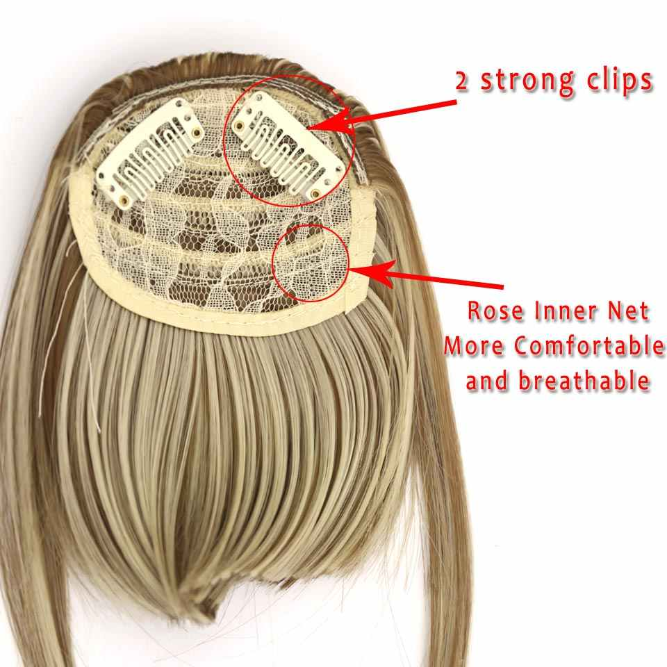 LUPU-extension capillaire synthétique noire brune | Postiche frontale à Clip pour femmes