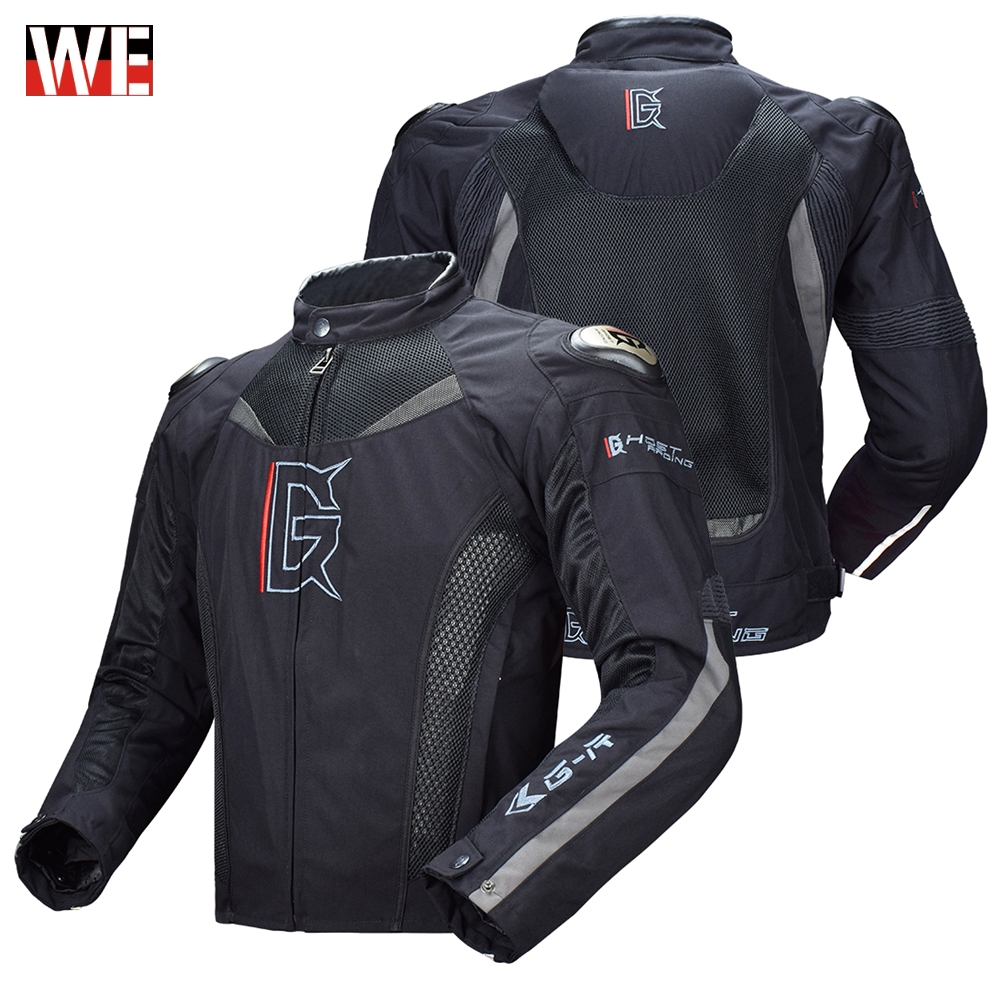 GHOST RACING Motorcycle Jacket Motorbike Riding Jacket Windproof Full Body Protective Gear Armor Autumn Winter Moto Clothing