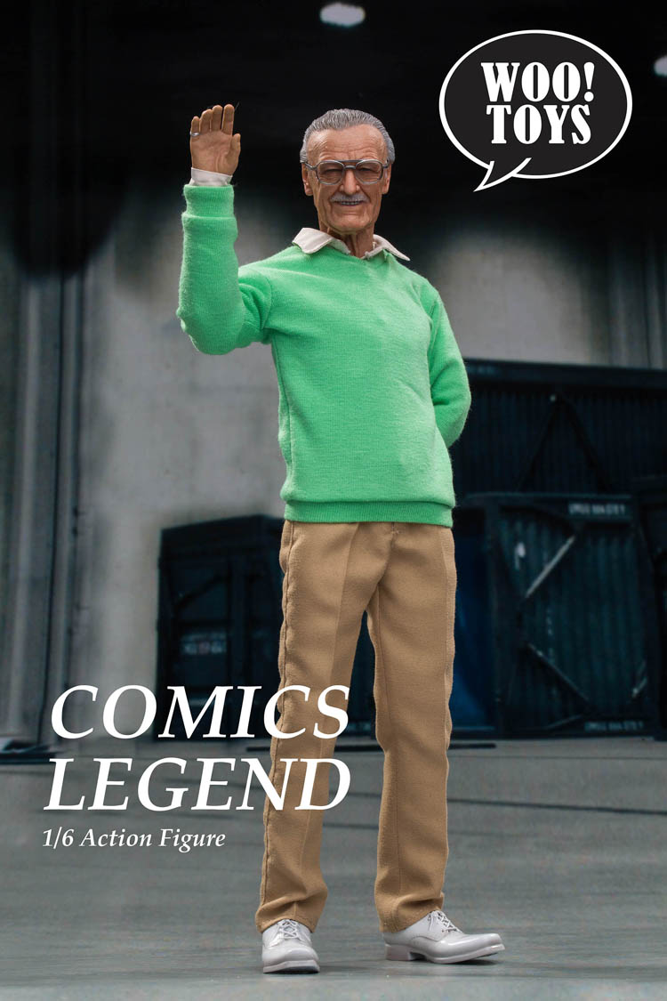 Full set 1/6 Scale WO-001 COMICS LEGEND Stan Old Father 12 inches Action Figure Model Whole Set for Fans Holiday Gift 1
