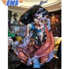 Статуя один кусок соломенная шляпа Пираты негабаритных 110 см третий шестерни Луффи полная длина портрет Обезьяна D Луффи анимационная фигурка GK игрушка