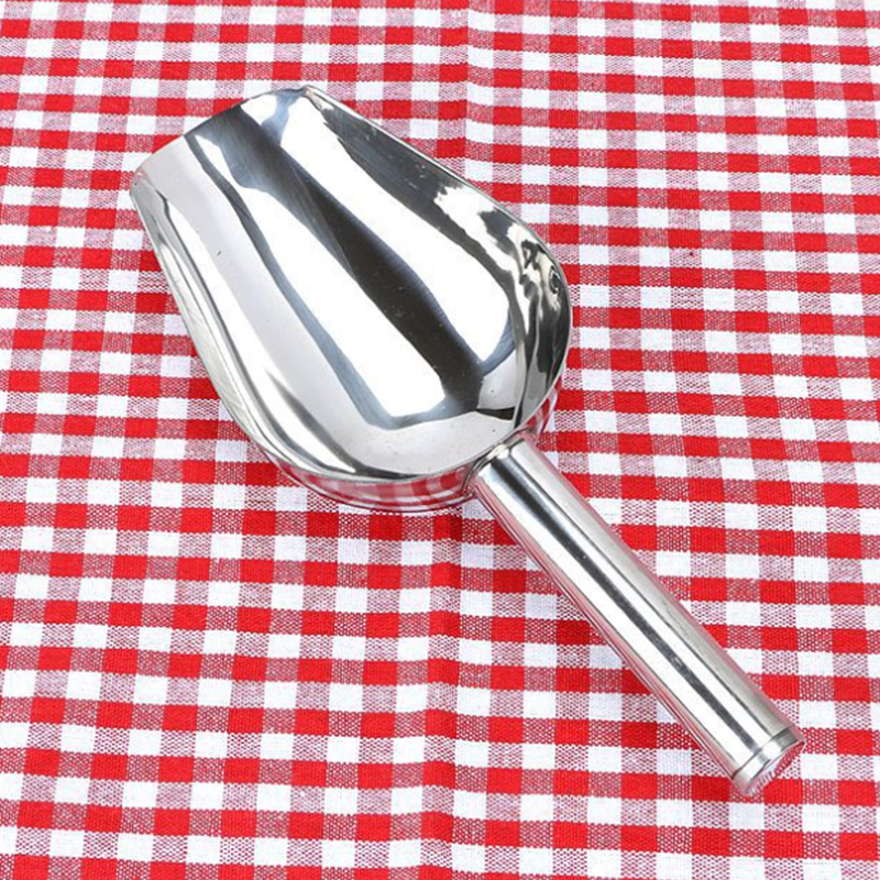1PC Candy Buffet Ice Stainless Scoops BBQ Tongs Flour Ice Scoops Shovel Buffet Bar Tools Wedding Bar Party Kitchen Accessories