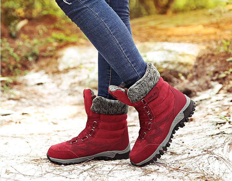 Bottes noires femmes chaussures d'hiver bottes pour femmes 2019 Style classique bottines pour femme bottes de neige femme chaussures chaudes taille 35-42