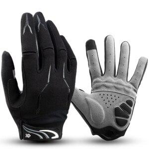 Перчатки для езды на велосипеде, полнопальцевые перчатки для езды на велосипеде, MTB, из мягкой ткани