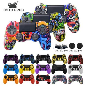 Data Frog Soft Silicone Gel Rubber Case Cover For SONY Playstation 4 PS4 Controller Protection Case For PS4 Pro Slim Gamepad cool camouflage soft silicone cover case protection skin for sony playstation 4 ps4 for dualshock 4 controller console decals