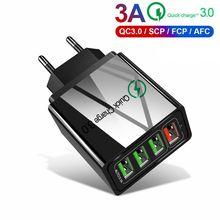 QC3.0 Быстрая зарядка 3,0 4,0 мобильный телефон быстрое USB зарядное устройство для телефона для samsung Xiaomi huawei для iPhone11 8 Планшет настенный адаптер