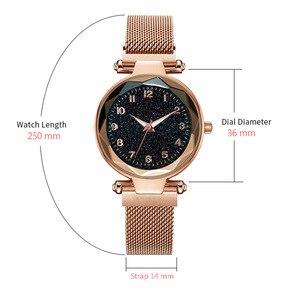 Image 4 - Luxus Leucht Frauen Uhren Starry Sky Magnetische Weibliche Armbanduhr Wasserdicht Strass Uhr relogio feminino montre femme