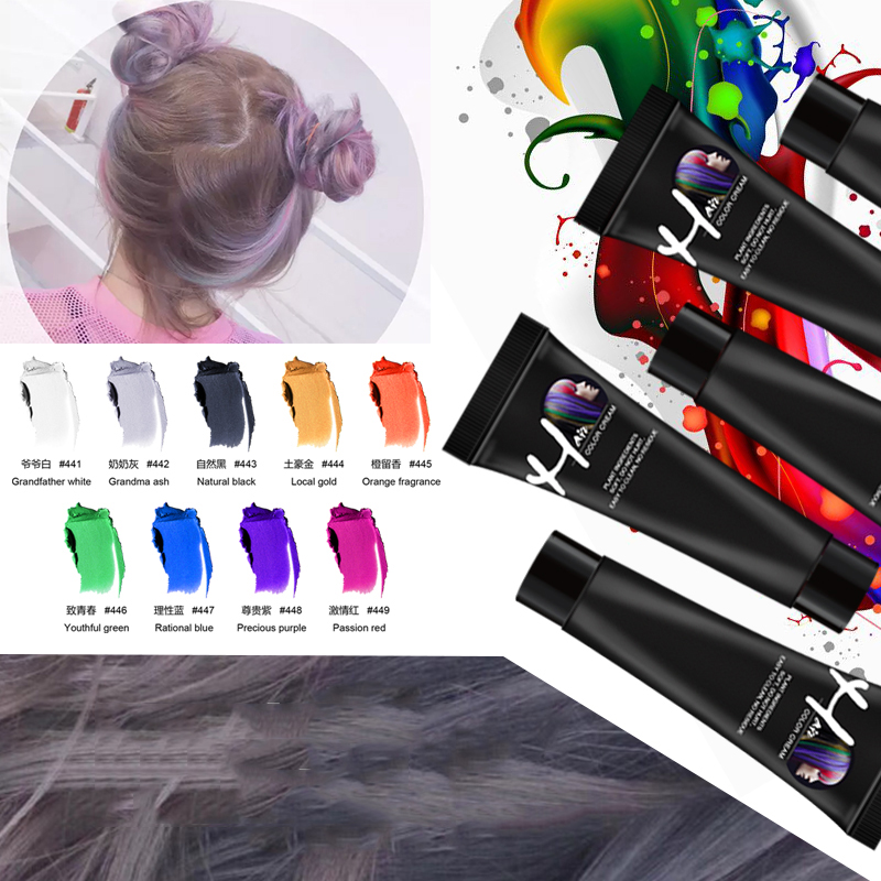 Hair Color Dye Disposable Hair Color Paste Cream Permanent Hair Dye Hair Gel Coloring Molding Wax Women Men Hair Styling DIY