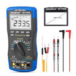 HoldPeak HP-770HD Автоматический цифровой мультиметр True RMS AC/DC Напряжение Частота электрические инструменты тестер HFE NCV Mulitmetro