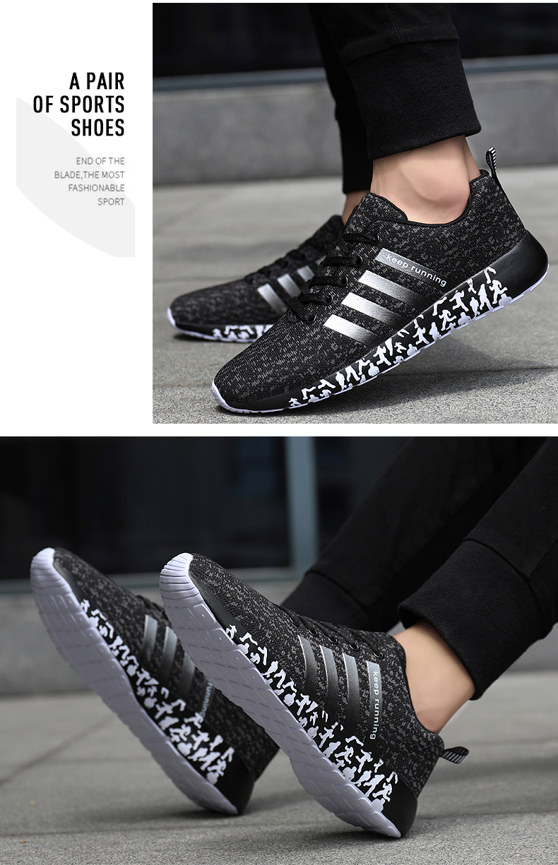 New Autumn Fashion Men Flyweather Comfortables Breathable Non-leather Casual Lightweight Plus Size 47 Jogging Shoes men 39S
