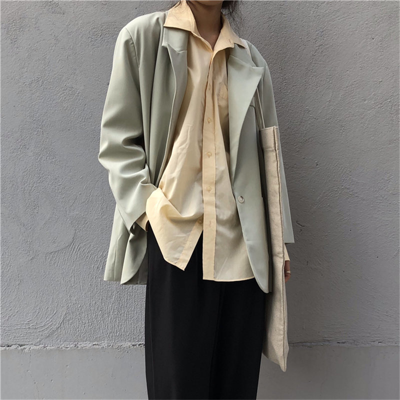 HziriP All Match Slim 2019 New Design Leisure Elegant Chic Office Lady Casual Women Loose Autumn Gentle Fresh Feminine Blazers