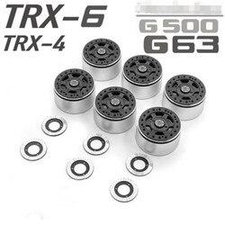 2.2 cala piasty kół zablokuj nakrętki na zawory oponowe Beadlock z tarczą hamulcową do TRAXXAS TRX6 G63 TRX4 G500 części do zdalnie sterowanego samochodu z LOGO w Części i akcesoria od Zabawki i hobby na