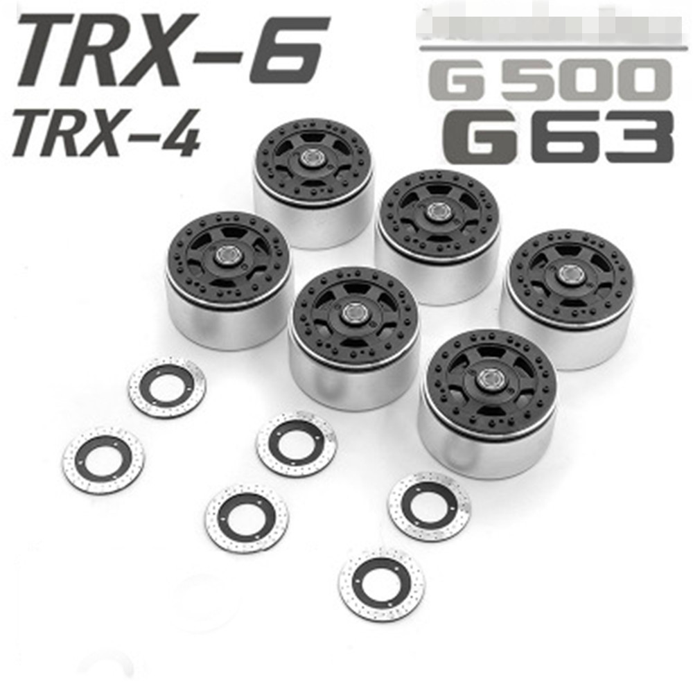 2.2 inch Wheel Hubs Lock Tire Wheel Rims Beadlock With Brake Disc for TRAXXAS TRX6 G63 TRX4 G500 RC Car Parts WITH LOGO