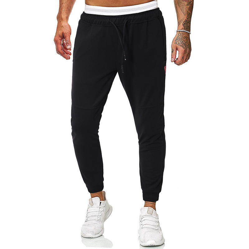 2019 Autumn New Style Fashion Red Label Joint MEN'S Casual Pants Ankle Banded Pants Athletic Pants 7160