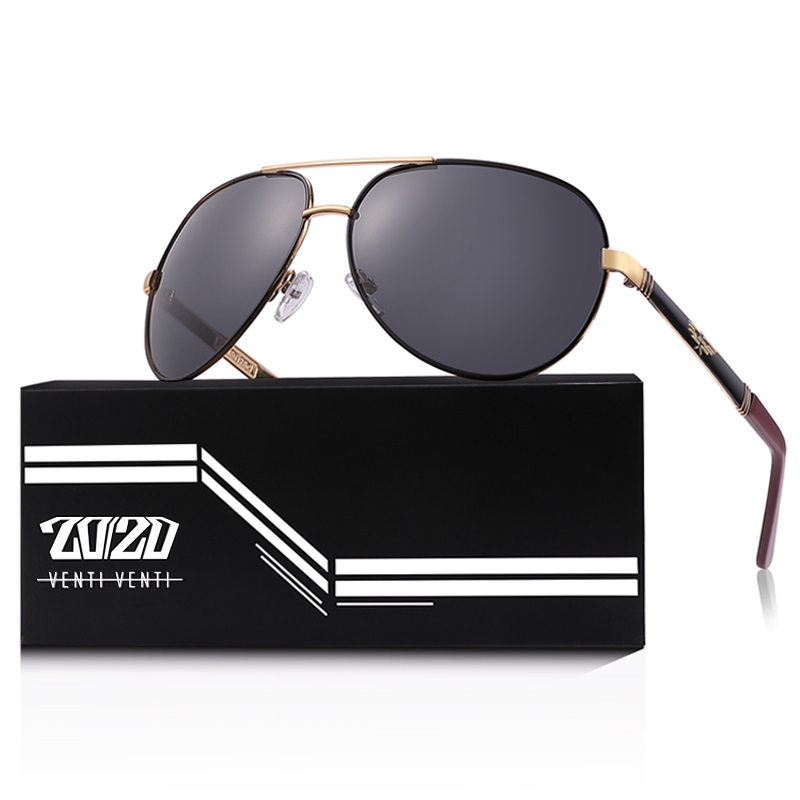 20/20 New Vintage Metal Polarized Sunglasses Classic Brand Sun glasses Coating Lens Driving Fishing Outdoor Shades oculo AK17131