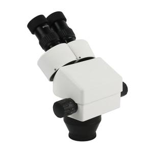 Image 5 - 7X 45X Continuo Ingrandimento Dello Zoom Stereo Microscopio Industriale Microscopio Binoculare Anello di Luce A LED Per Il Telefono PCB Saldatura