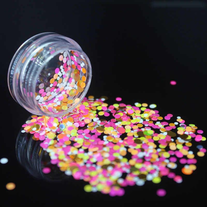 반짝임 불규칙한 쉘 종이 장식 조각 DIY 네일 Flakies 3D 네일 아트 장식을위한 다채로운 Paillette 반짝이 네일 아트 장식 조각