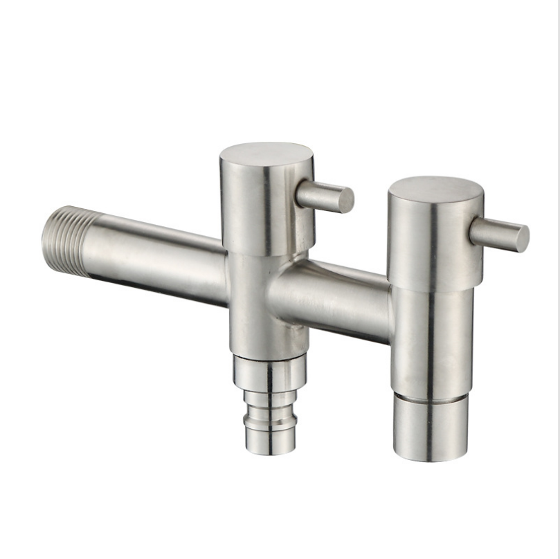 Bảng giá 304 Stainless Steel Lengthen Washing Machine Faucet Double Switch Double Control Single Cold Tap Bathroom Mop Pool Bibcock Phong Vũ