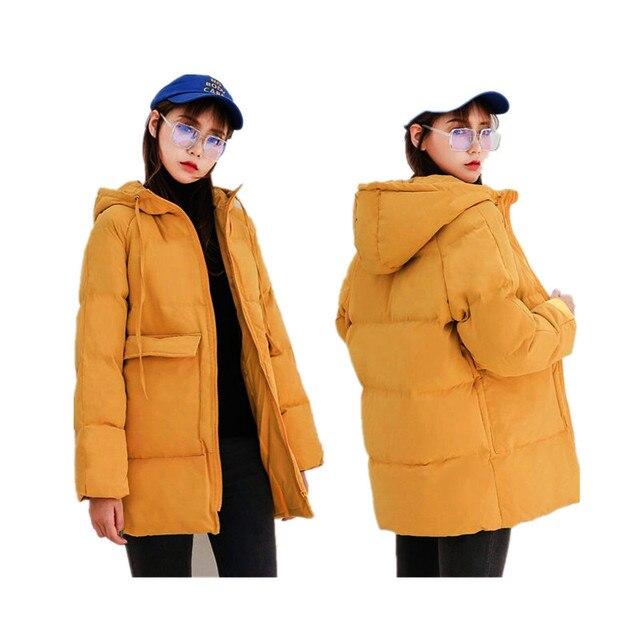 2020 automne hiver coton Parkas surdimensionné manteaux et vestes femmes vêtements d'extérieur à capuche veste bouffante 6