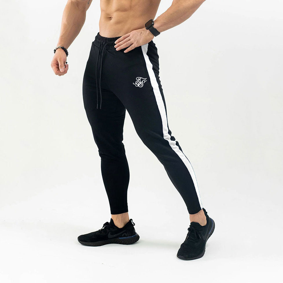 Siksilk Autumn New Men Fitness Sweatpants Male Gyms Bodybuilding Workout Cotton Trousers Casual Joggers Sportswear Pencil Pants