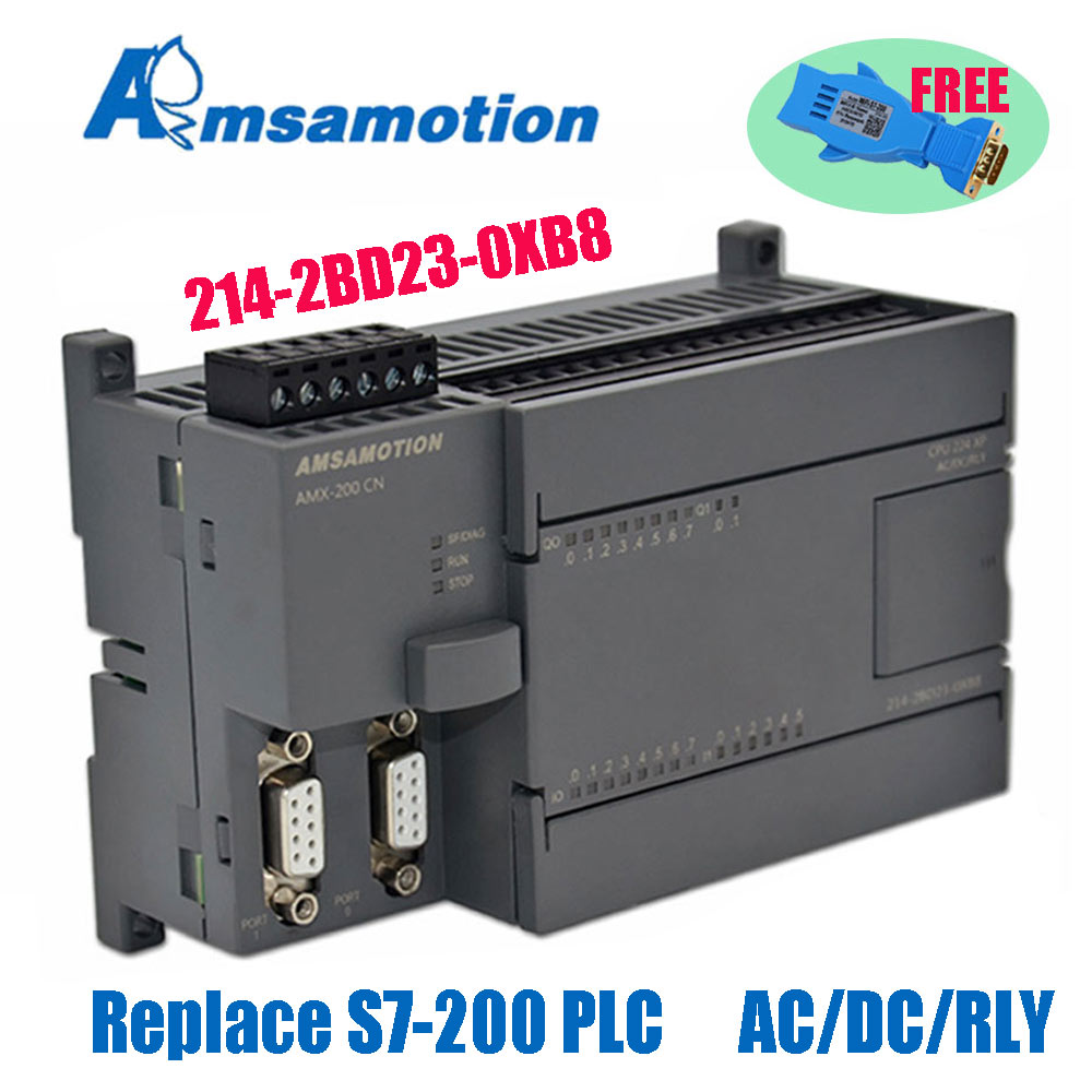Replace S7 200 PLC CPU224XP PLC Programmable Controller Relay Output With WIFI Programming Adapter Free Amsamotion Factory Sale|Wires & Cables| |  - title=