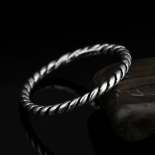 купить 925 Sterling Silver Twisted Decorative Ring Female Japanese And Korean Style Couple Wedding Ring Jewelry Size TYC0731 дешево