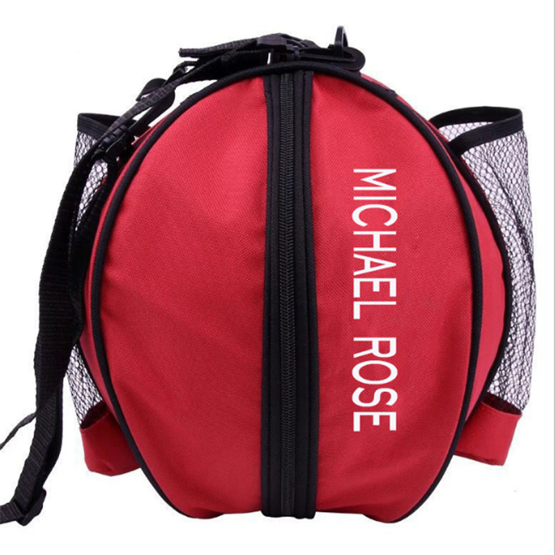 Portable Volleyball Football Basketball Storage Waterproof Men Sports Bags Mesh Side One Shoulder Two-Way Open Soccer Ball Bags